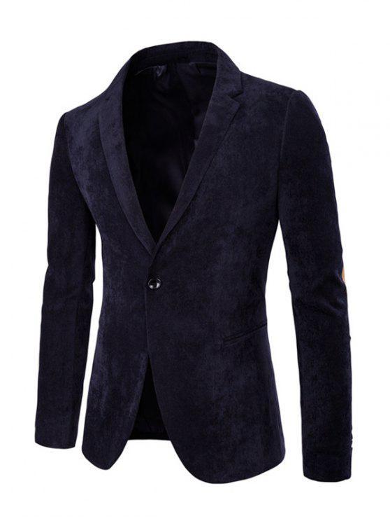 Codo Parche trasero parcial de manga larga de pana Blazer - Azul Marino  L
