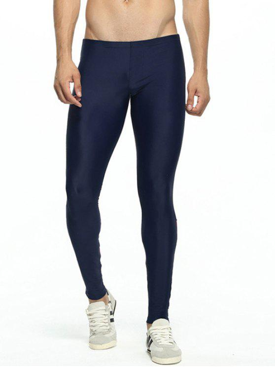 Getäferten dünne elastische Taillen-Gym Pants - Rot L