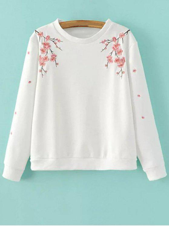 shops Titoni Embroidered Sweatshirt - WHITE M