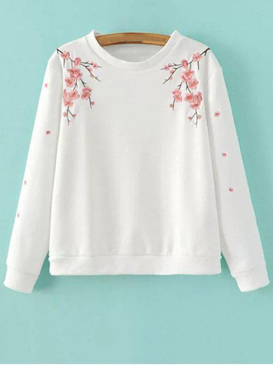 Titoni camiseta bordada - Blanco L