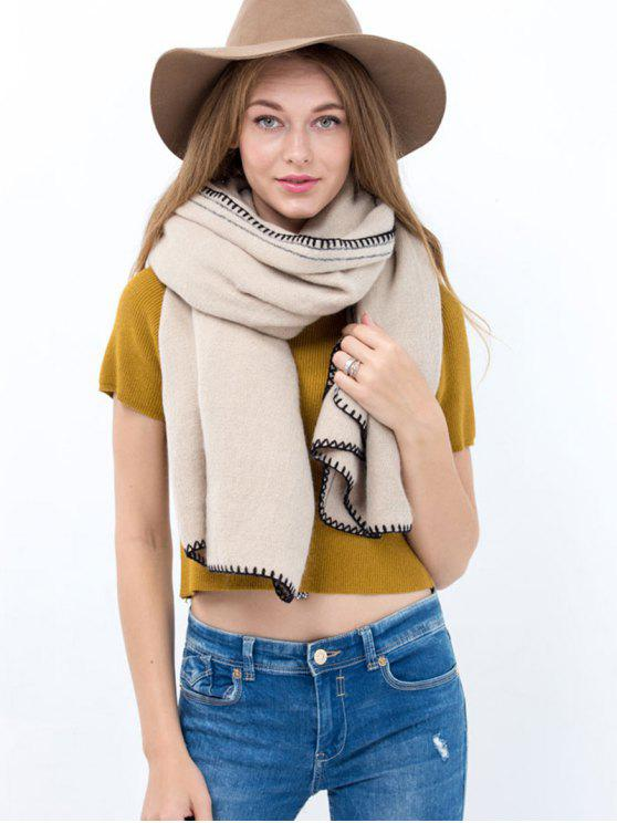 women Hemming Long Scarf - OFF-WHITE