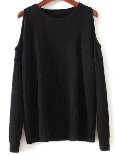 Cold Shoulder Sweater - Black