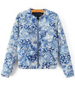Porcelain Quilted Jacket - Blue And White S