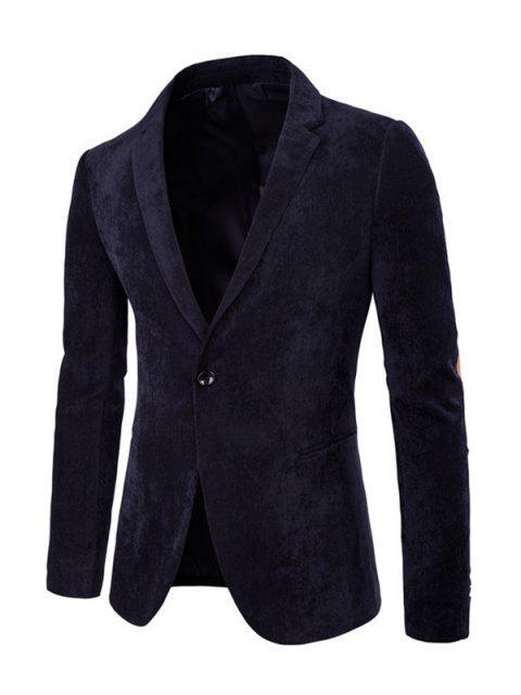 Elbow Patch de Split Retour à manches longues Corduroy Blazer - Bleu Cadette L Mobile