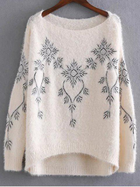 Brodé Paillettes Mohair Sweater - Abricot Taille Unique Mobile