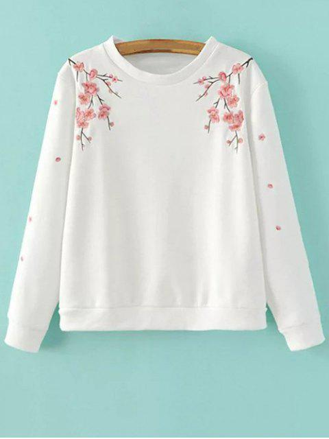 shops Titoni Embroidered Sweatshirt - WHITE M Mobile