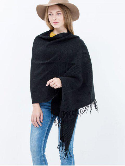 outfits Pleated Tassel Long Scarf -   Mobile