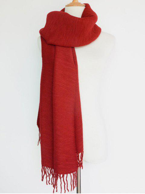 latest Pleated Tassel Long Scarf -   Mobile