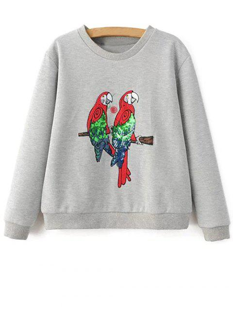 Parrot Sweatshirt - Gris Clair S Mobile