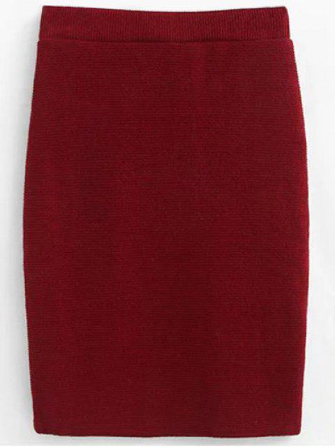 Pull et Knit Skirt - Rouge vineux  S Mobile