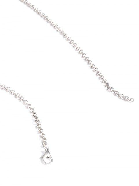 ladies Engraved Coins Alloy Geometric Body Chain - SILVER  Mobile