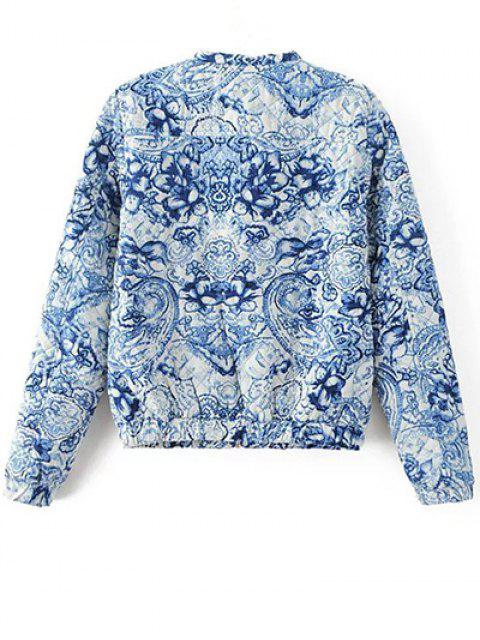unique Porcelain Quilted Jacket - BLUE AND WHITE S Mobile