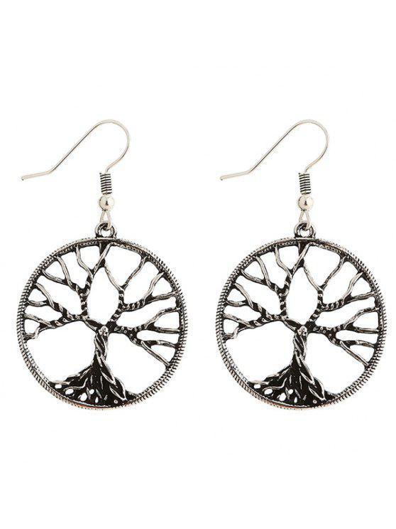 Paar Baum der Weisheit Ohrringe - silber