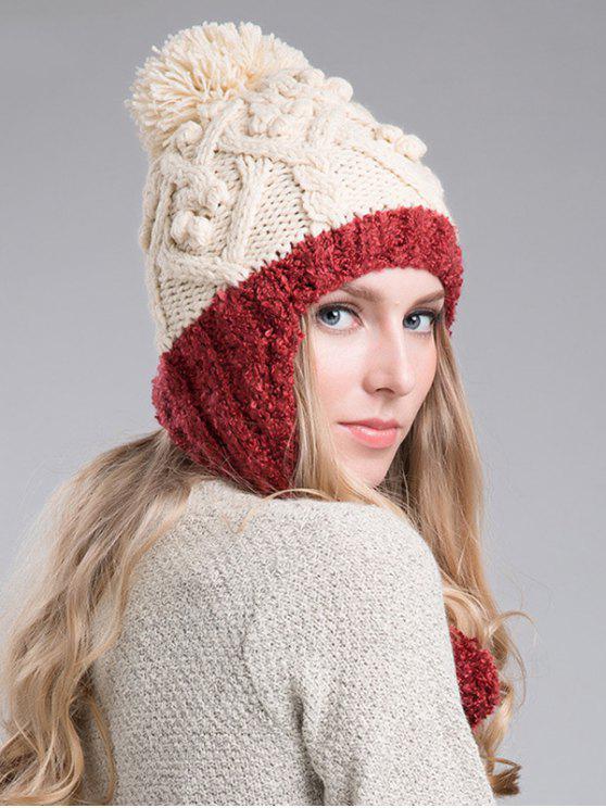 new Hemp Flowers Knitted Beanie - CLARET