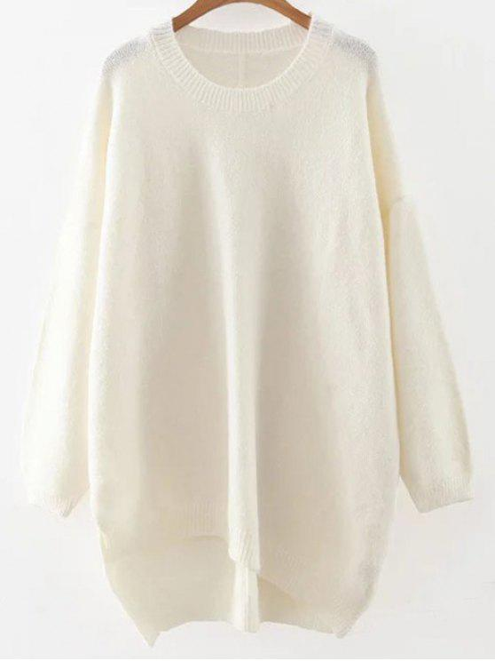 womens Slouchy Long Sweater - WHITE ONE SIZE