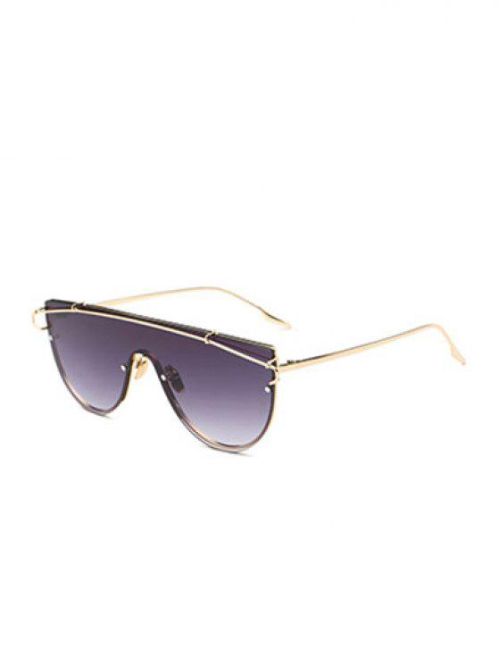 lady Cross-Bar Sheild Sunglasses - GOLDEN