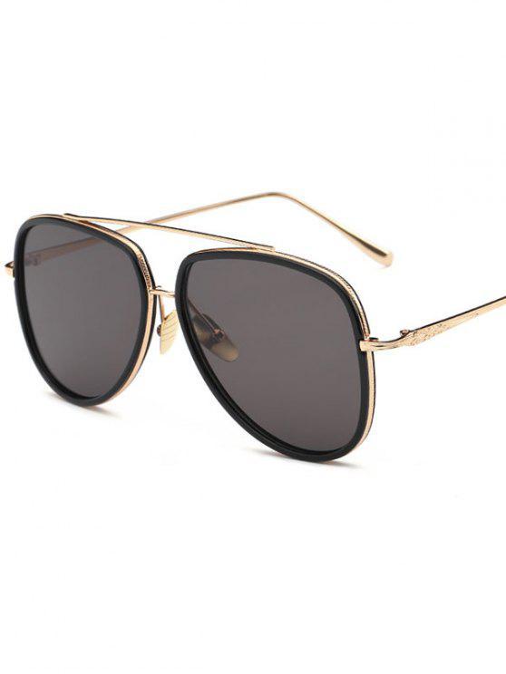 Llantas dobles piloto gafas de sol - Negro