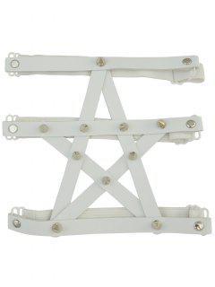 Pentagram Faux Chaîne Leg En Cuir - Blanc