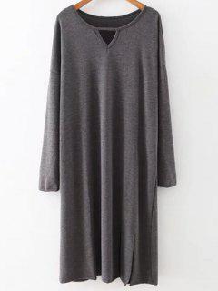 Furcal Midi Robe Pull - Gris