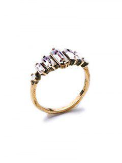 Faux Crystal Ring - Golden One-size