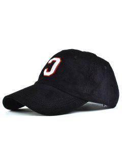 Letter C Baseball Hat - Black