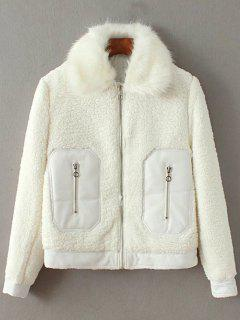 Zippé Thremal Fleece Jacket - Blanc S
