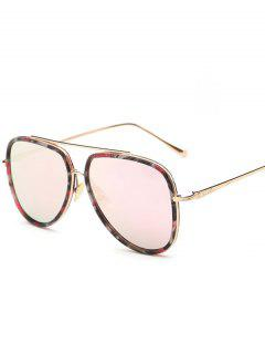 Flower Pattern Pilot Sunglasses - Pink