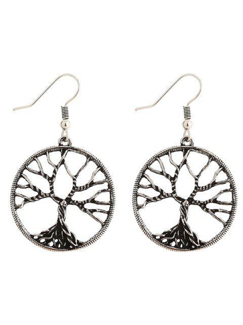 online Pair of Tree of Wisdom Earrings - SILVER  Mobile