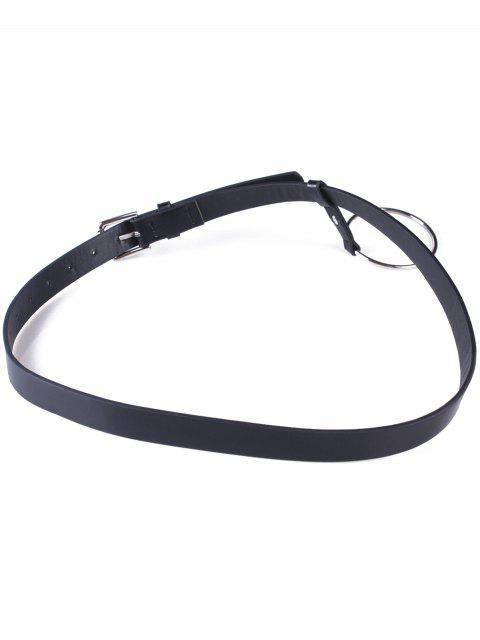 womens Hoop Pin Buckle Belt - BLACK  Mobile