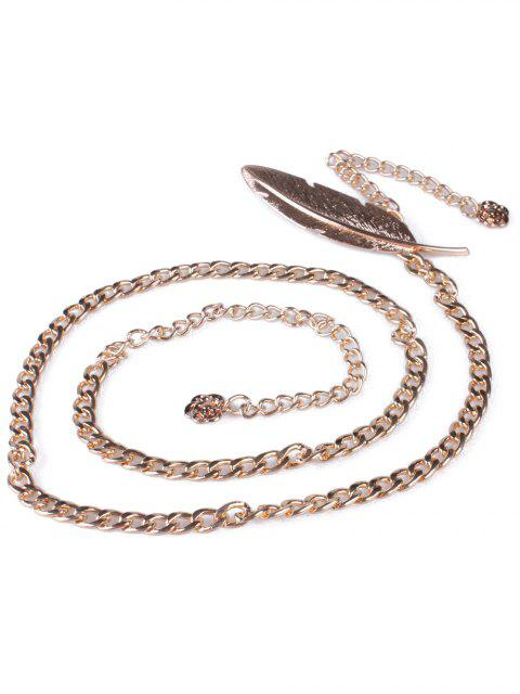 outfit Feather Metal Waist Chain - GOLDEN  Mobile