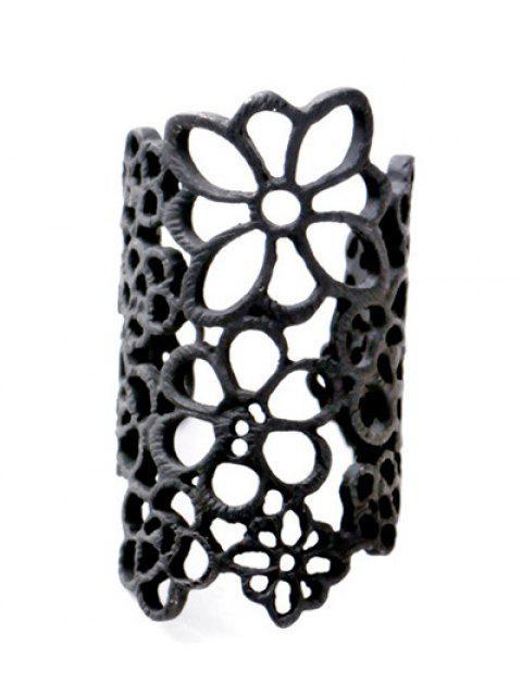 online Hollowed Flower Ring - BLACK  Mobile