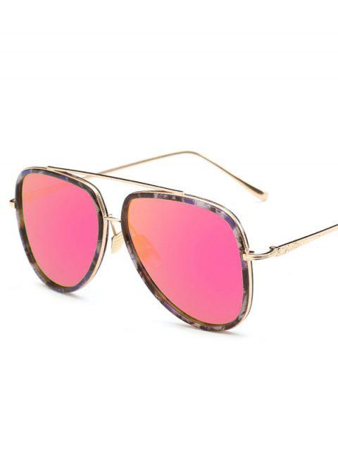 chic Fleck Pilot Sunglasses - ROSE RED  Mobile