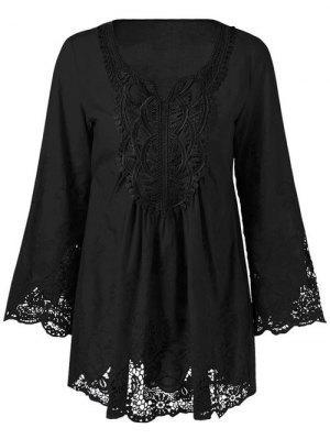 Plus Size Blusa Para Mulher - Preto 3xl