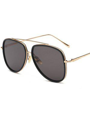 Double Rims Pilot Sunglasses - Black