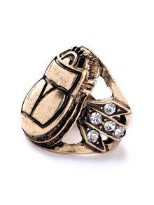 Buy Insect Rhinestone Ring - GOLDEN ONE-SIZE