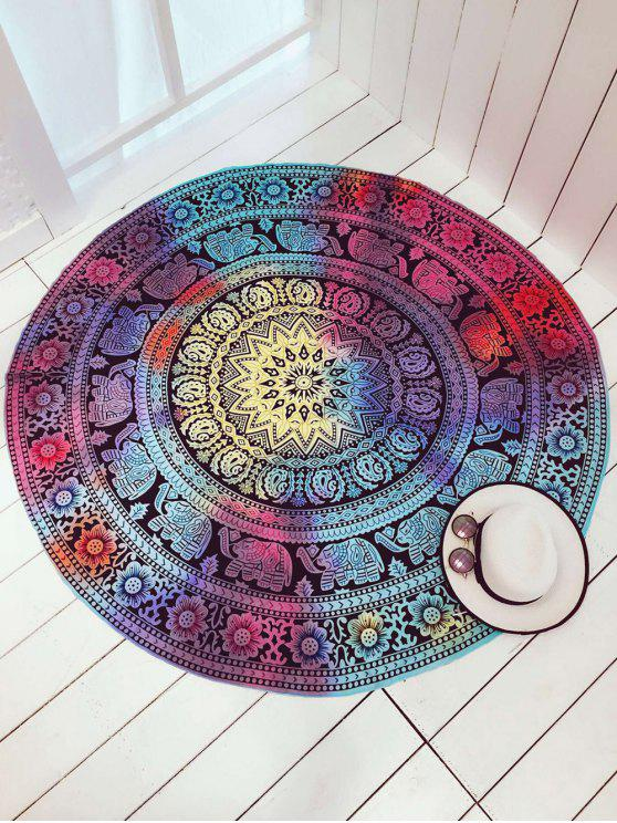 women Colorful Elephant Circle Cover Up - COLORMIX ONE SIZE
