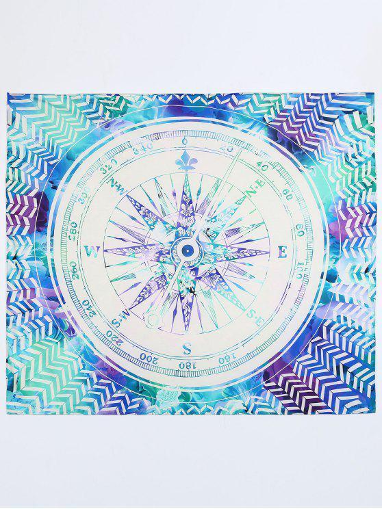 women's Clock Print Beach Mat - COLORMIX M
