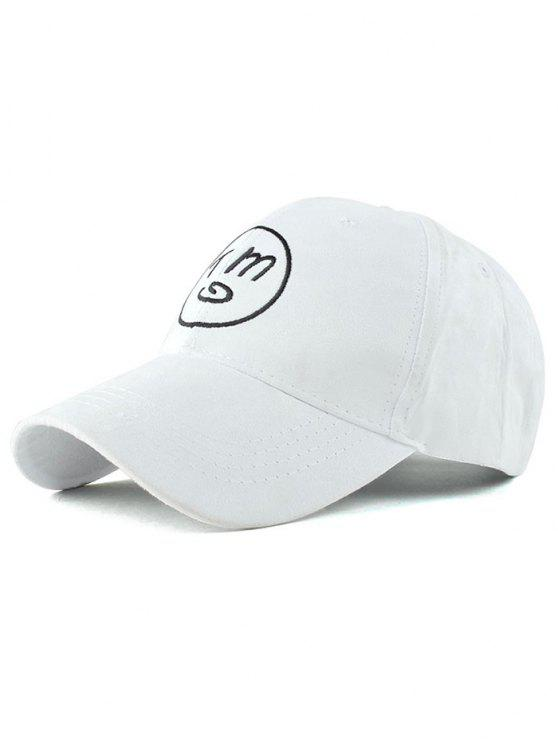 affordable Round Faux Suede Baseball Hat - WHITE