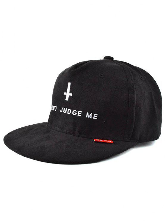 2019 Letter Cross Faux Suede Snapback Hat In BLACK  d0645ccc01e