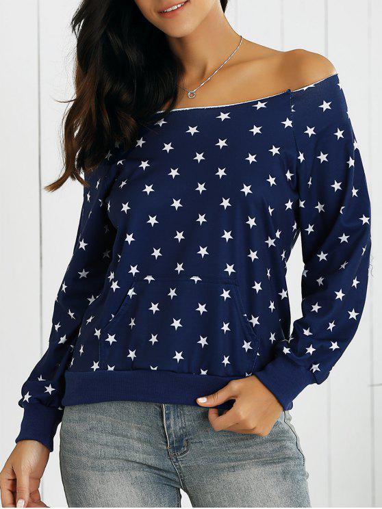 Étoile Off Sweatshirt épaule - Bleu Foncé XL