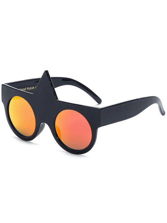 hot Unicorn Round Mirrored Sunglasses - RED
