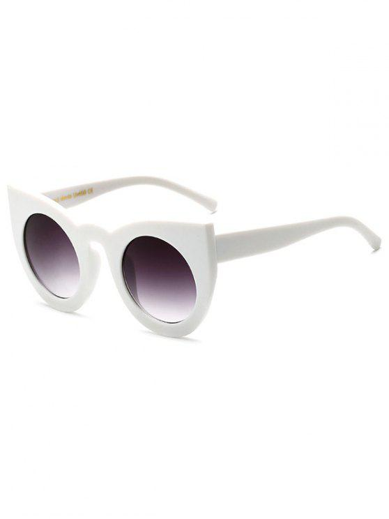 Lente redonda Cat Eye Sunglasses - Blanco