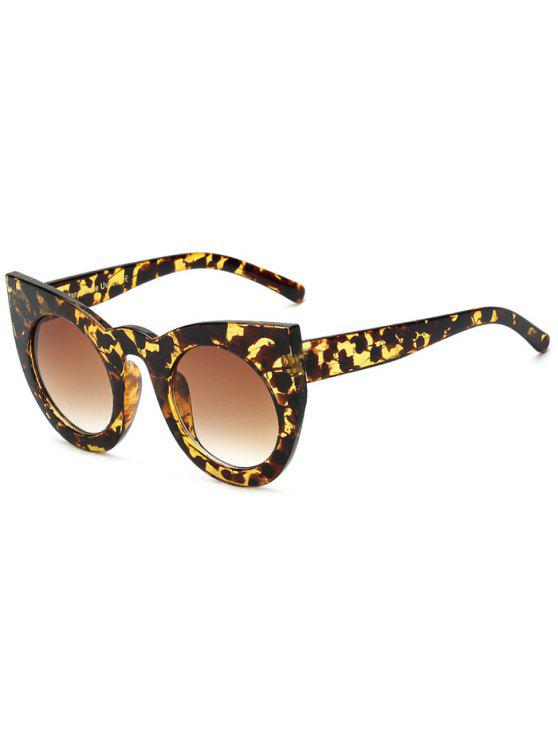 shops Round Lens Hawksbill Cat Eye Sunglasses - BROWN