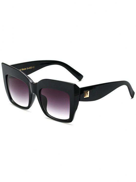 fashion Square Oversized Sunglasses - BLACK