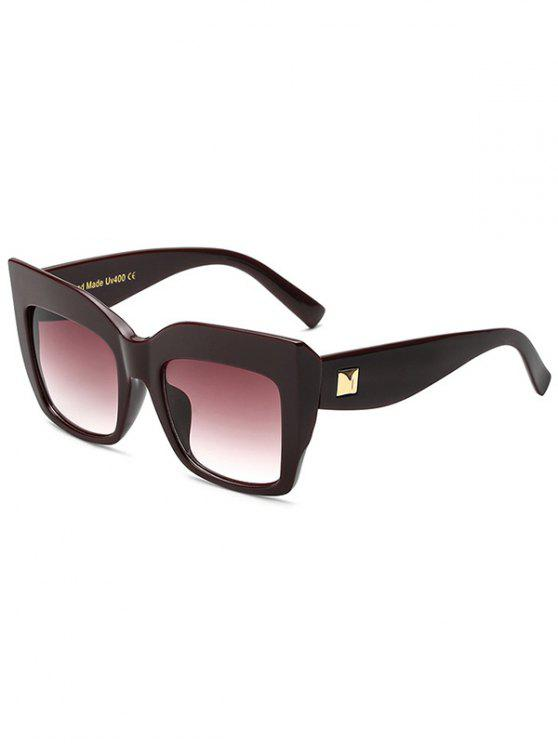 fancy Square Oversized Sunglasses - WINE RED
