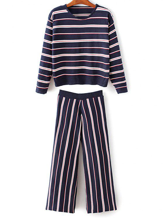 shops Striped Knitwear With Pants - CADETBLUE ONE SIZE