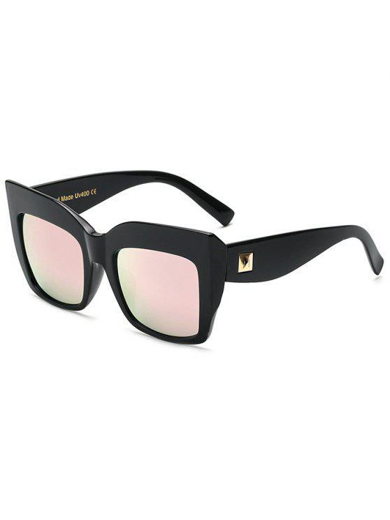 Remache con espejo de gran tamaño gafas de sol - Rosa