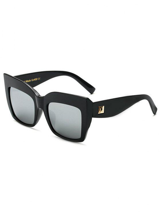 Remache con espejo de gran tamaño gafas de sol - Plata