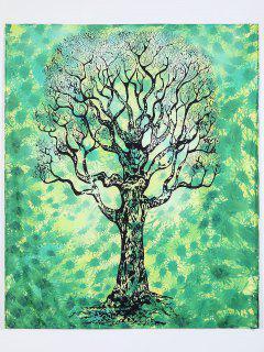 Green Tree Rectangle Beach Throw - Green M