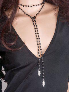 Beads Layered Wrap Choker - Black